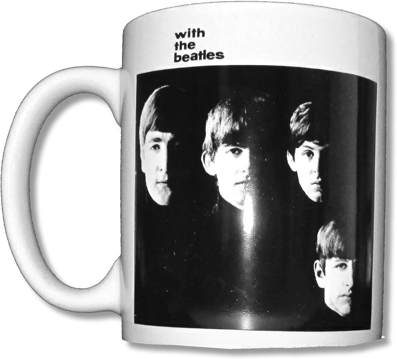 Beatles With The Beatles White Ceramic Collectible Coffee Mug