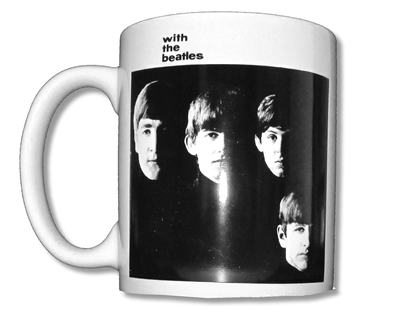Beatles With The Beatles White Ceramic Collectible