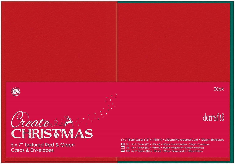 """DOCRAFTS /""""Crear/"""" 5X7/"""" Tarjetas y Sobres De Navidad"""