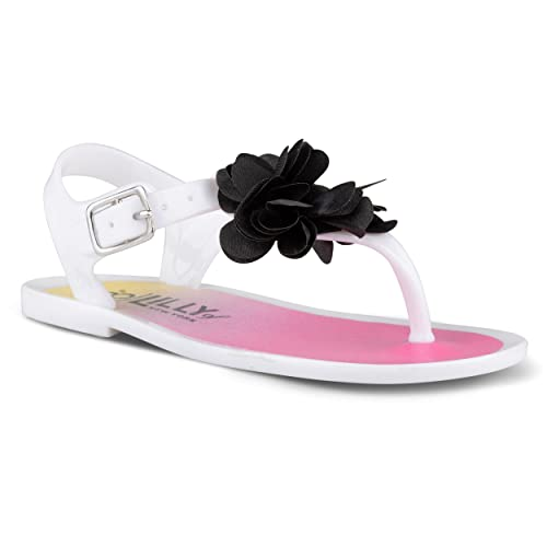 5c33df6a6877 Chillipop Jelly Sandals Girls   Toddlers Flower Detail