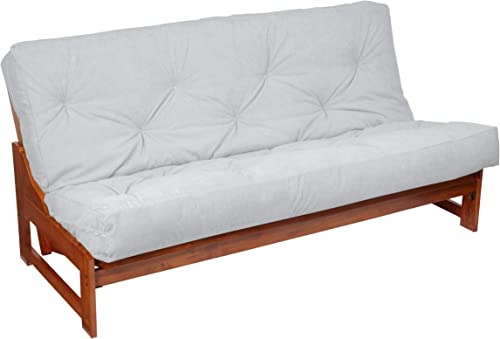 Mozaic Futon Mattress, Queen, Suede Gray