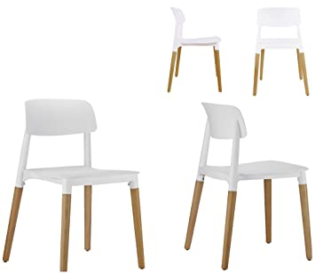 Astonishing Btexpert 5080 Halime White Dining Chairs Set Of 4 Wood Andrewgaddart Wooden Chair Designs For Living Room Andrewgaddartcom
