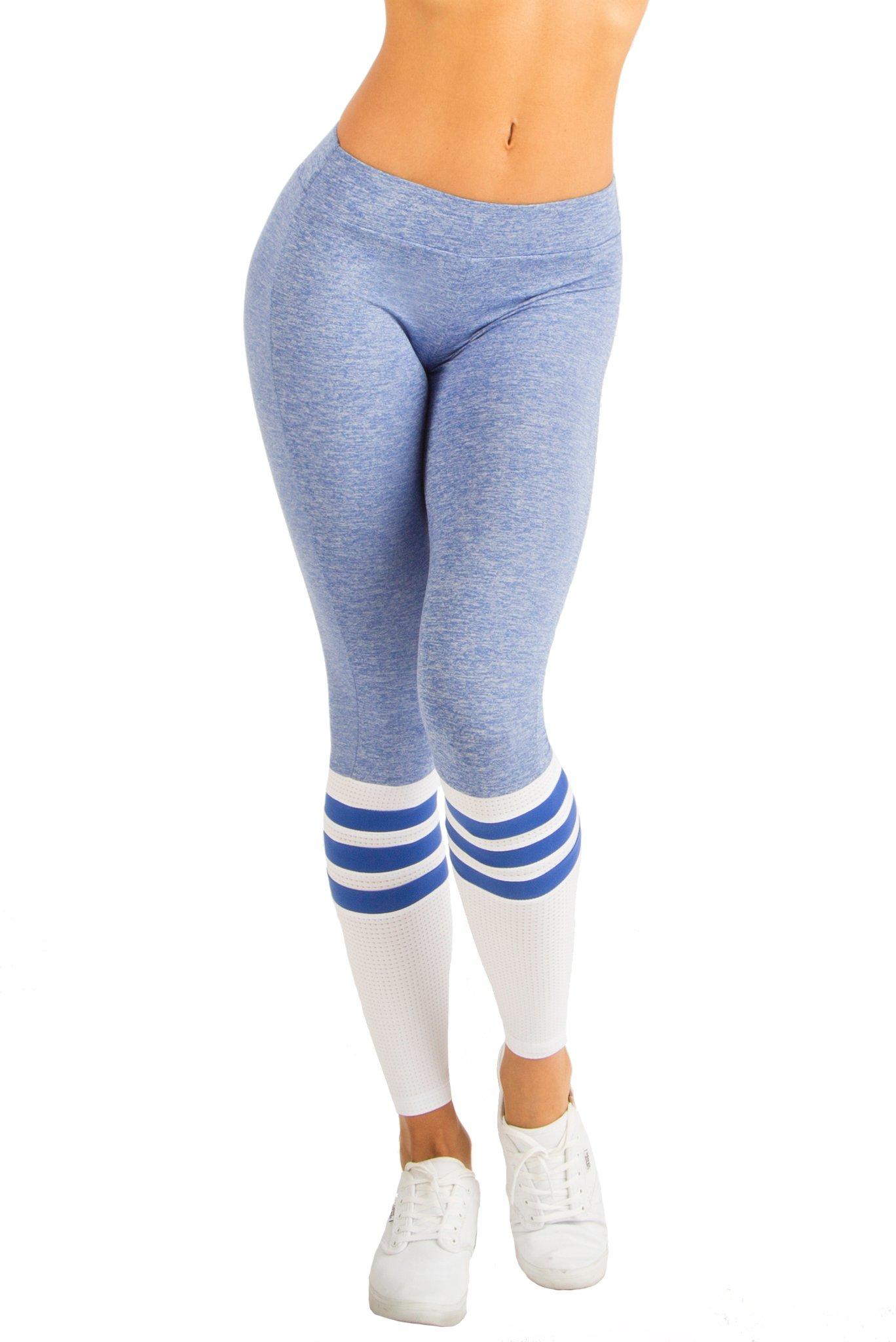 Bombshell Sportswear - Sock Leggings (Blue, Small)