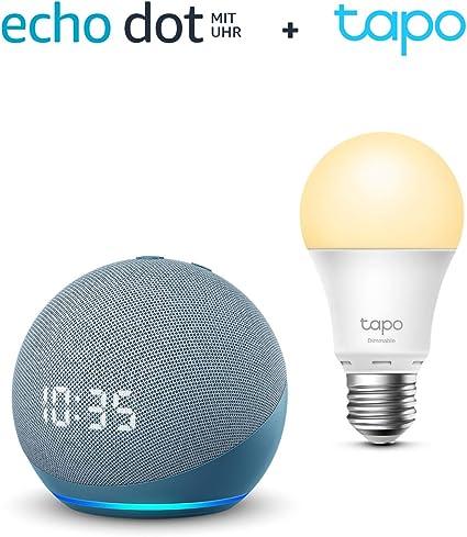 Der Neue Echo Dot 4 Generation Mit Uhr Blaugrau Tp Link Tapo Smart Lampe E27 Funktionert Mit Alexa Alle Produkte