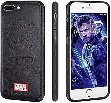 FASTER Coque iPhone 8 Plus iPhone 7 Plus Etui en Cuir Marvel ...