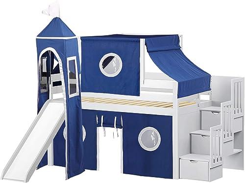 JACKPOT JP-ST Blue-White Loft Bed