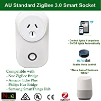 Nue ZigBee Smart Outlet Socket Plug Compatible with Echo Plus and ZigBee Bridge Hub for Home Automation