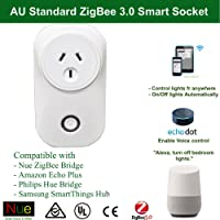 AU Smart ZigBee Socket Outlet Plug Philips Hue, Echo Plus, Nue ZigBee Bridge Compatible for Wireless Smart Home Automation Google Home Amazon Alexa Voice Home Control