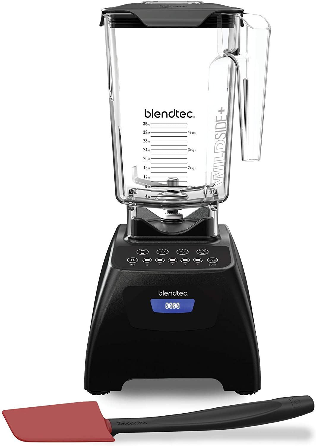 Blendtec Classic 575 Kitchen Blender, 90 oz/36 oz Blending Capacity, Black/Spoonula