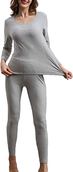 Amorbella Womens Cotton Thermal Underwear Long Johns Base Layer Set