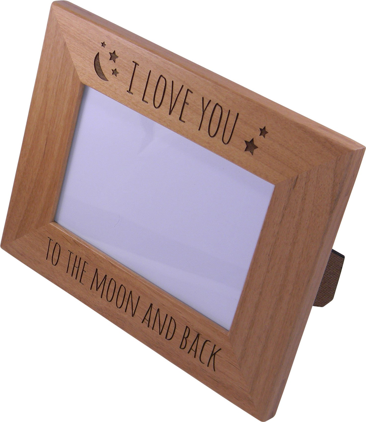 CustomGiftsNow-I-Love-You-To-The-Moon-And-Back-Wood-Picture-Frame-Holds-4×6-Inch-Photo-Great-Gift-for-Motherss-Fathers-Day-BirthdayValentines-Day-Anniversary-or