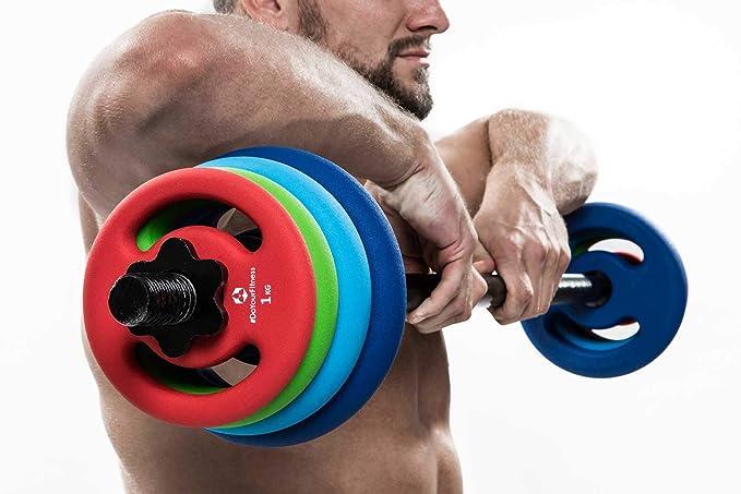 4x pesas de hierro fundido 100% de 1 kg 2 kg 3 kg 4 kg 5 kg / cada ...
