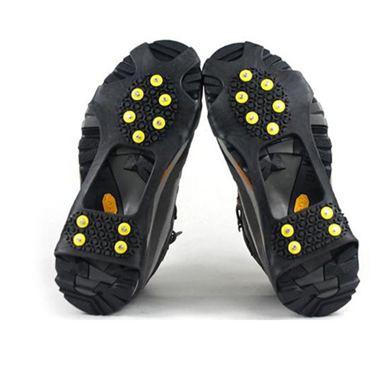 logei® 1 Paar Schuhspikes Schuhkrallen Stollen Eiskrallen anti Rutsch mit 10 Spikes für Schnee und Eis, Gr. 36-41 209050000