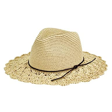 96926716 San Diego Hat Women's Scalloped Crochet Sun Hat Natural One at ...