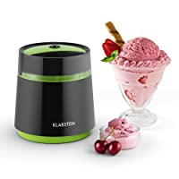 Klarstein Bacio Ice Cream Machine Fast & Easy Production with Compact Design and Recipes Included (0.8L, Double-Walled Insulated Containers, Small Footprint)