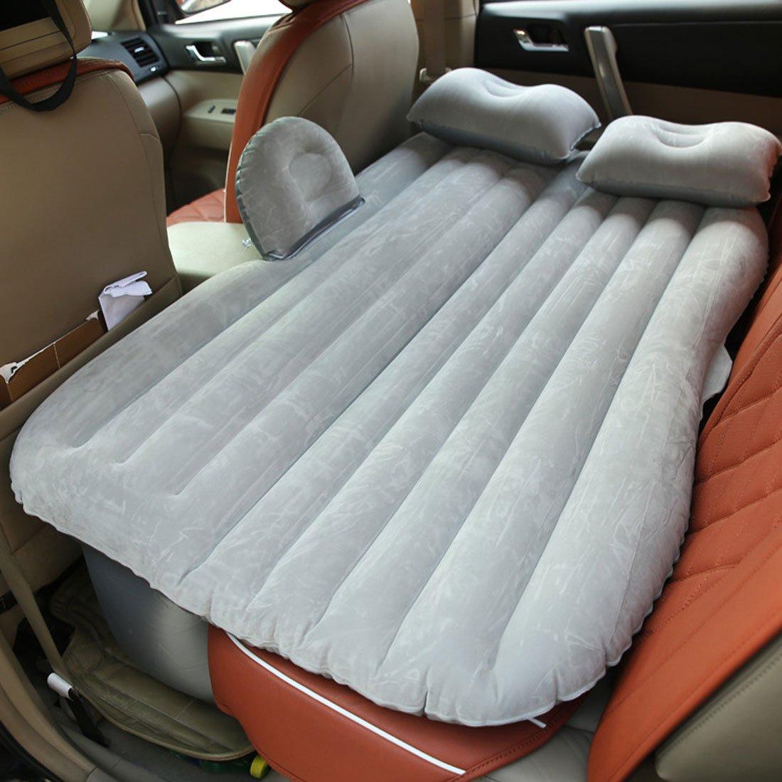 Amazon.com : eDealMax gris Flocado de aire inflable colchón de la cama de coche cama que se reclina al aire Libre el recorrido que acampa : Sports & ...