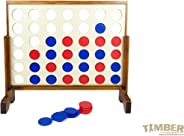 Giant Connect 4 - Giant 4 in a Row Premium Wooden Yard Games Set by TIMBER