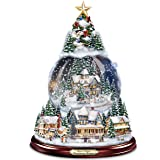 "Thomas Kinkade ""Wondrous Winter"" Musical Tabletop Christmas Tree With Snowglobe: Lights Up! by The Bradford Exchange"