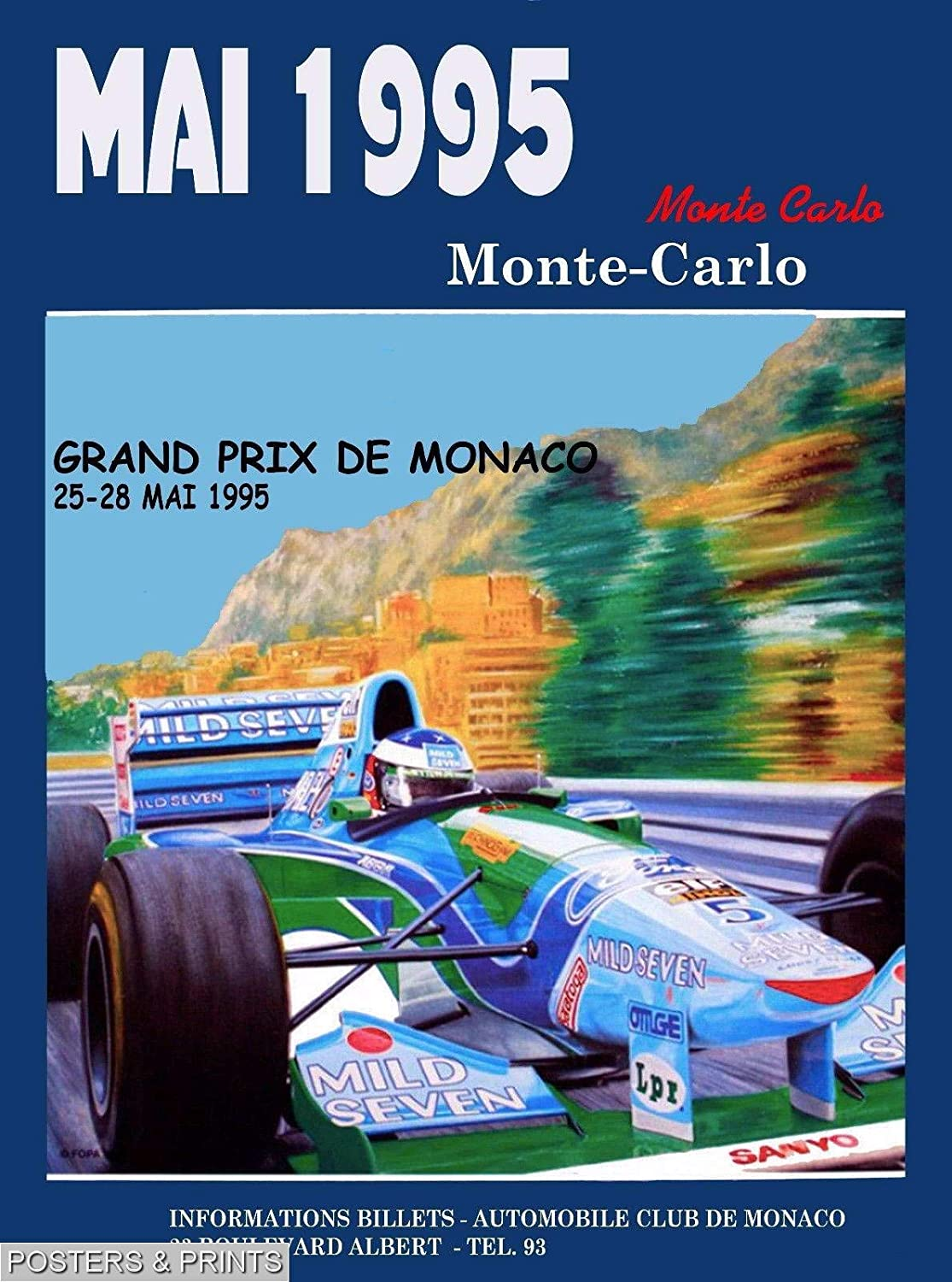 amazon com designomite 302546 1995 53rd monaco grand prix automobile race car advertisement vintage decor wall 16x12 poster print posters prints designomite 302546 1995 53rd monaco grand prix automobile race car advertisement vintage decor wall 16x12 poster print