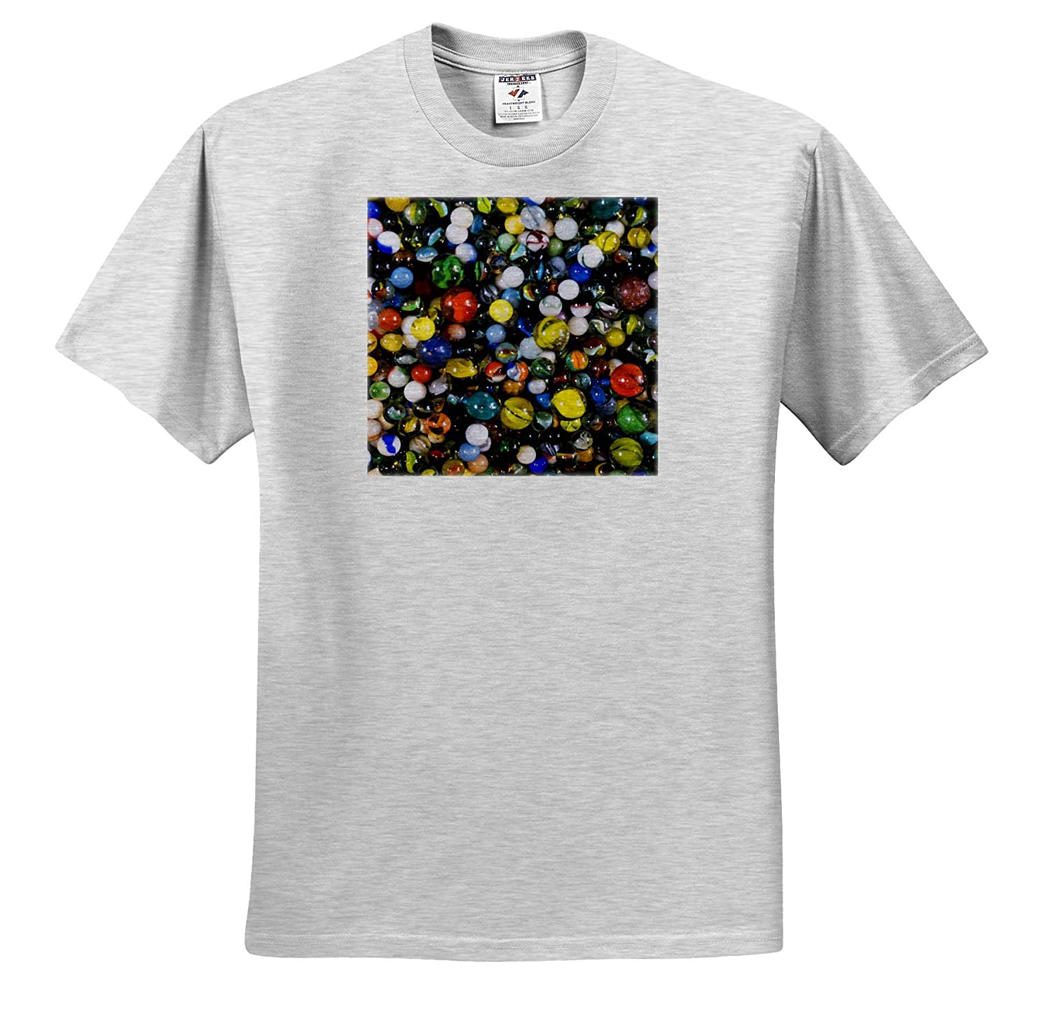 - Adult T-Shirt XL Pile of Glass Marbles Abstracts ts/_314955 3dRose Danita Delimont