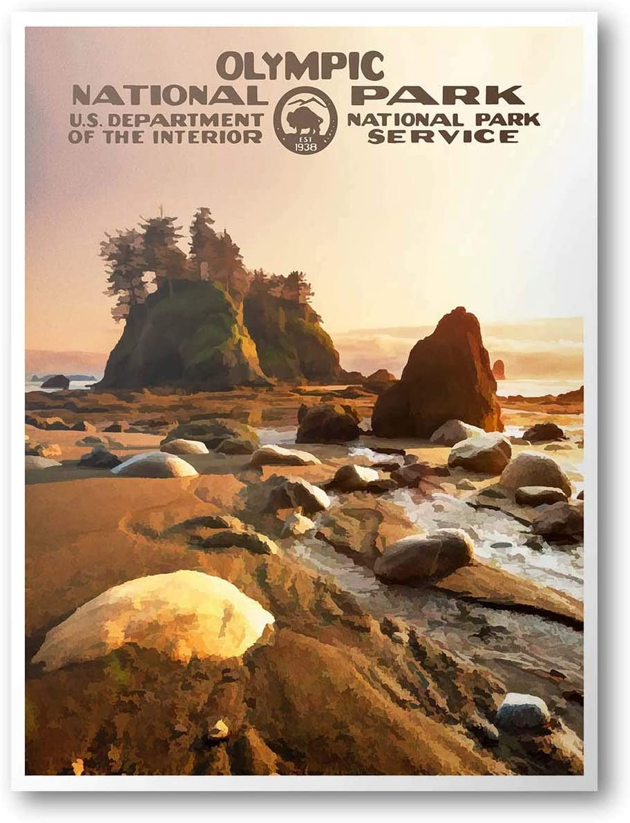 Olympic National Park Poster (Sunset)