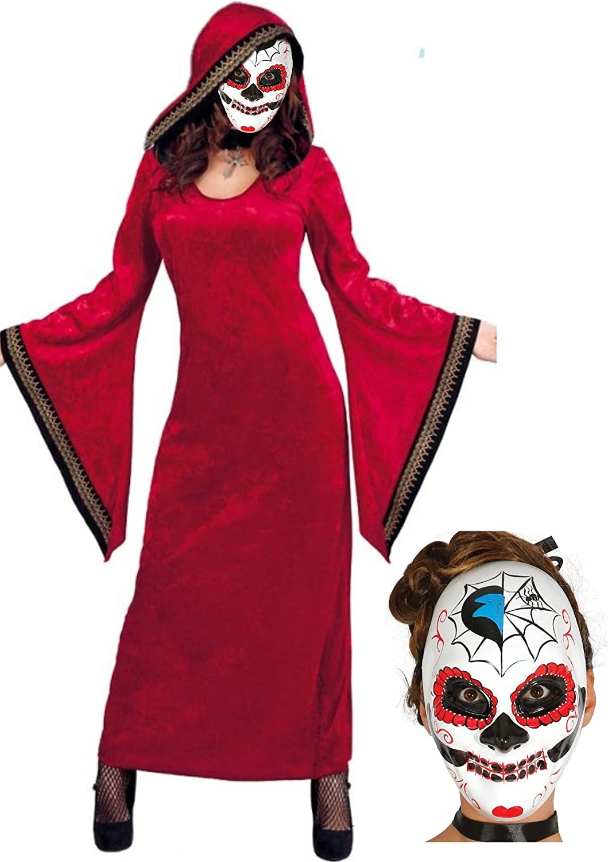 Disfraz de Catrina hechicera: Amazon.es: Ropa y accesorios
