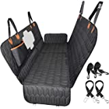 4-in-1 Dog Car Seat Cover, OKMEE Convertible Dog Hammock Scratchproof Pet Car Seat Cover with Mesh Window 2 Seat Belts , Dura