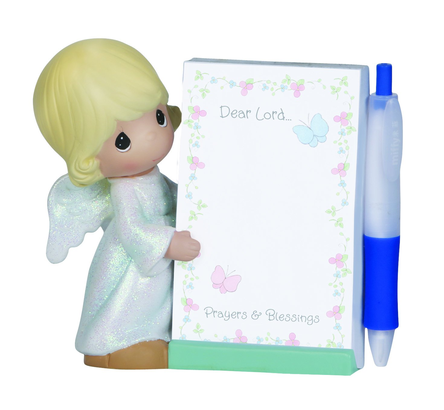 Precious Moments Angel Figurine with Notepad and Pen, Set of 3