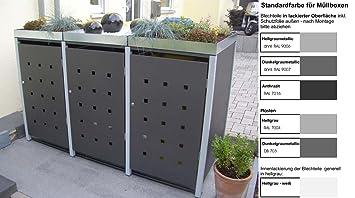 Mulltonnenverkleidung Mulltonnenbox Mullboxen Metall Amazon De Garten