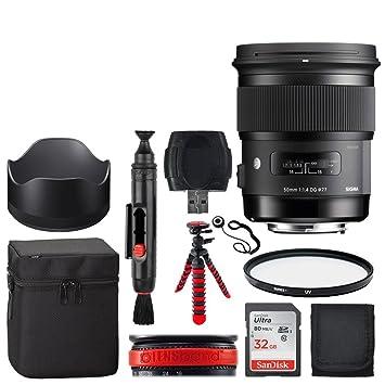 Amazon com : Sigma 50mm f/1 4 DG HSM Art Lens for Canon +