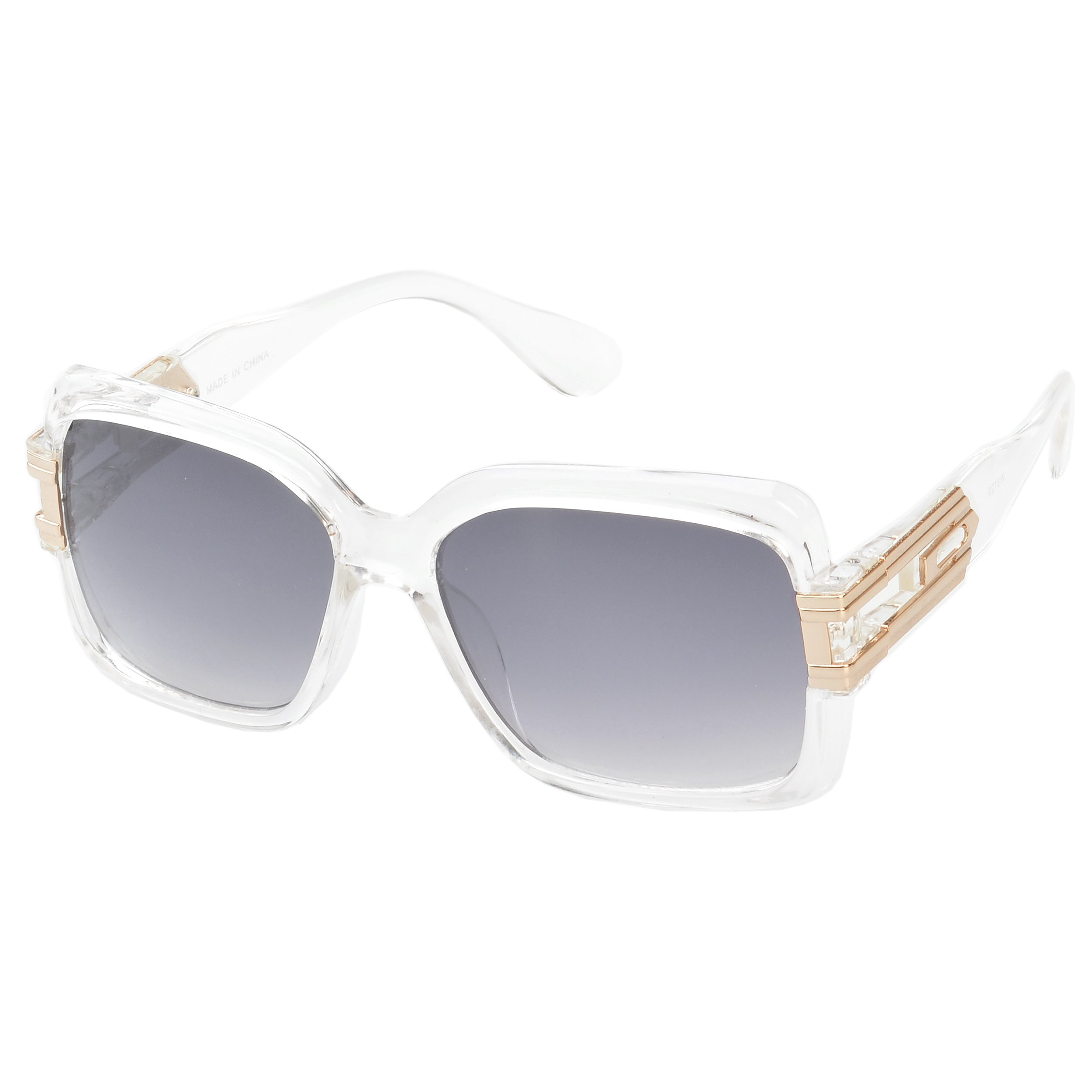 MLC Eyewear ® 'Remington' Square Fashion Sunglasses in Clear