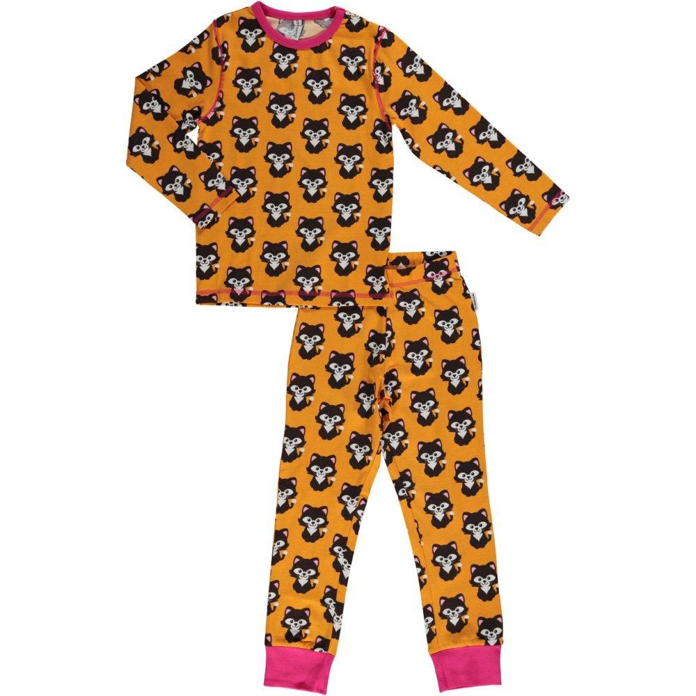 maxomorra de manga larga Pijama de algodón orgánico amarillo amarillo Talla:110/116: Amazon.es: Bebé