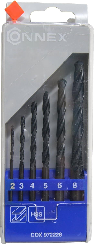 6 Pieces Connex COX972226 HSS Twist Drills
