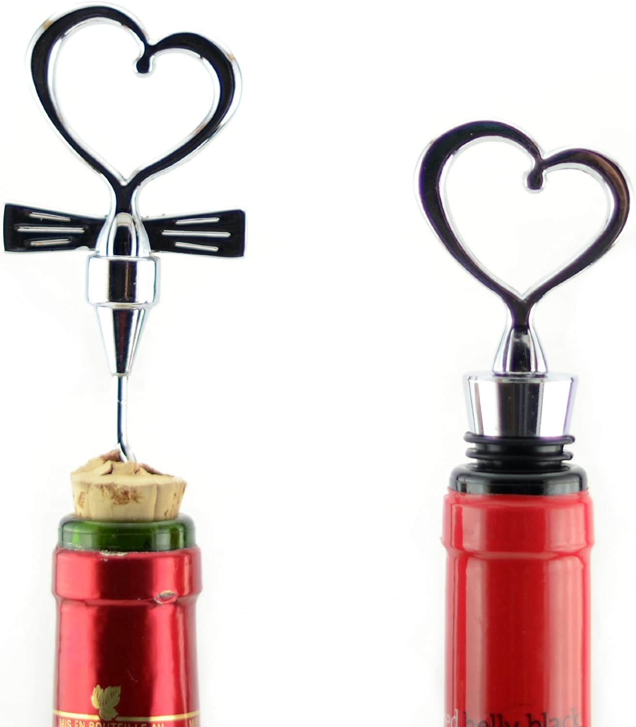 Tannex Heart Wine Stopper Stainless Steel