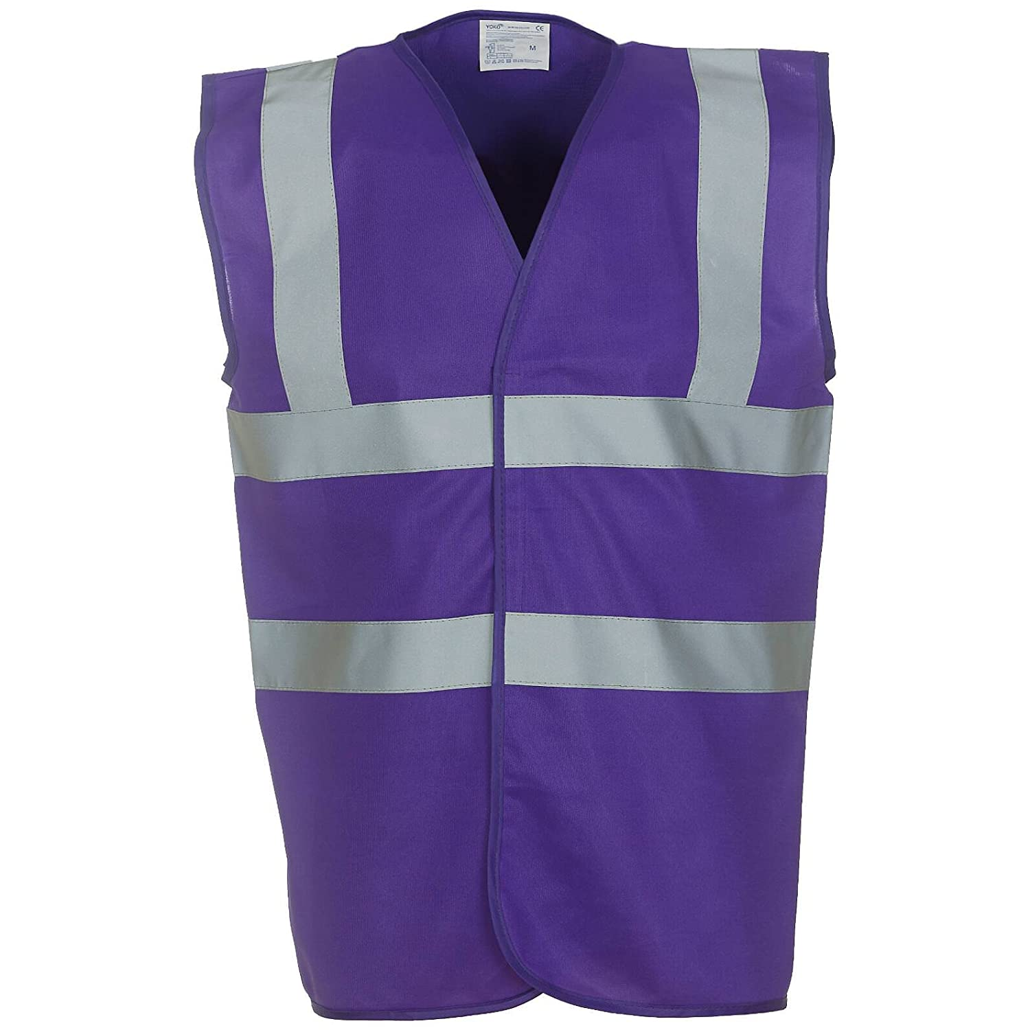 Yoko Hi Vis 2 Band And Braces Waistcoat - 26 Colours / Sml - 5XL - Purple - S