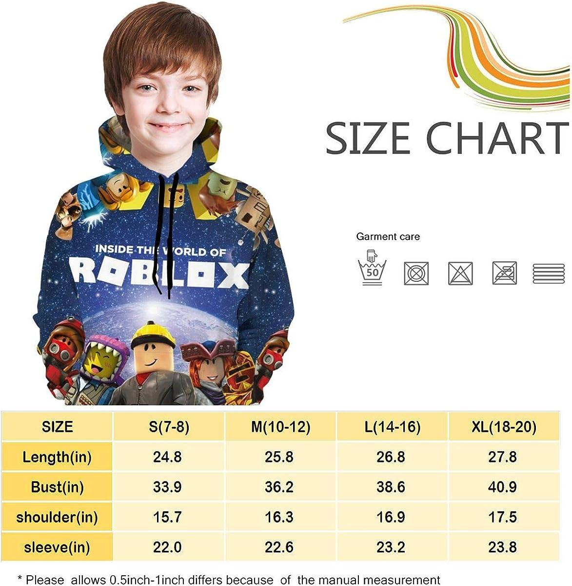 Cai Jingg Rob-lox Comfortable Teen Hooded Sweater Black