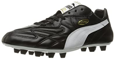 2868e95fb86a Puma Men's King Top DI FG Soccer Shoe,Black/White/Team Gold,