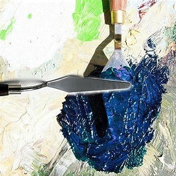 Sicai Edelstahl K/ünstler /Ölgem/älde Spachtel Farbe Kunst 5 St/ück Malerei Mischen Schaber