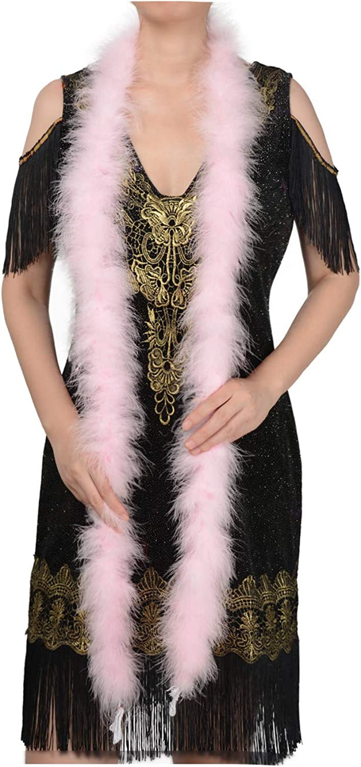 Baby Pink 22 Grams Marabou Feather Boa 6 Feet Long Crafting Sewing Trim