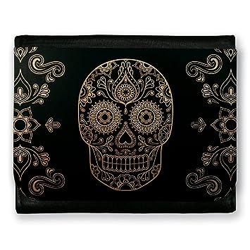 1588bca0ebc Portefeuille Tête de mort mexicaine   sugar skull - Chamalow shop ...