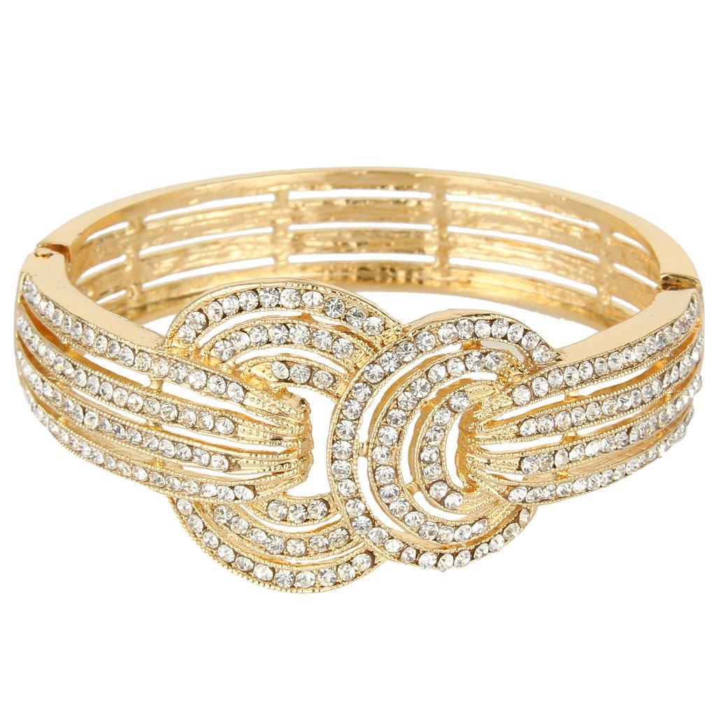 Ever Faith Wedding Art Deco Bracelet Clear Austrian Crystal N03819-2
