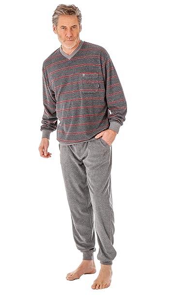 Hajo climática - Rizo Hombre Traje De Dormir pijamas Puños Color a elegir Graumelange XXX-Large: Amazon.es: Ropa y accesorios