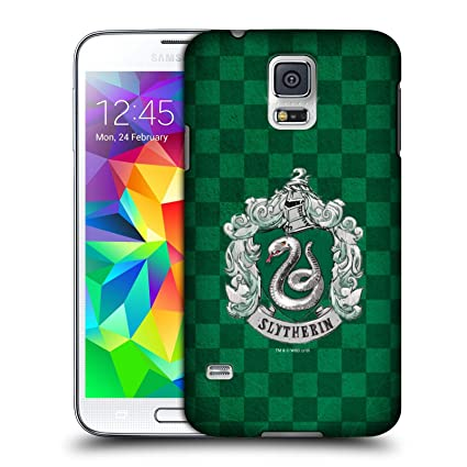 Amazon.com: Official Harry Potter Slytherin Checkered Crest ...