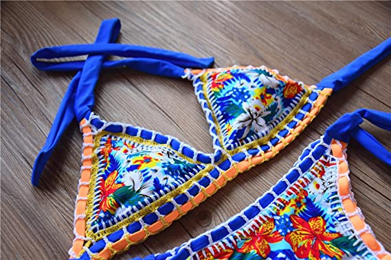 Amazon Sherry007 Sexy Handmade Crochet Bikini Swimsuit Triangle