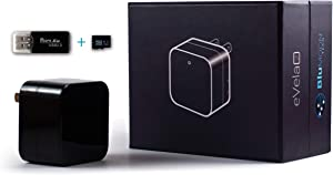 Spy Camera Wireless Hidden USB Wall Charger Surveillance Nanny cam for Home Security - Camaras Espias Ocultas Camara Espia - 1080P Video w/ 32GB Micro-SD Card Included ~ BluMoonTech ~ eVela2