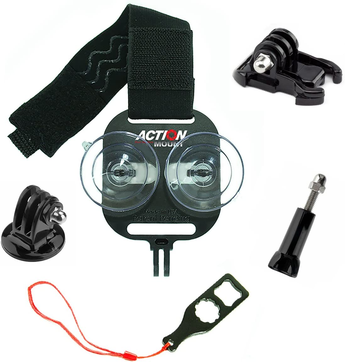 Action Mount - Universal Smartphone Mount Set Add-On for Video. Attach to Any Sport Camera Mount for Use with Phone While Hunting & Fishing. (Action Mount Setup)
