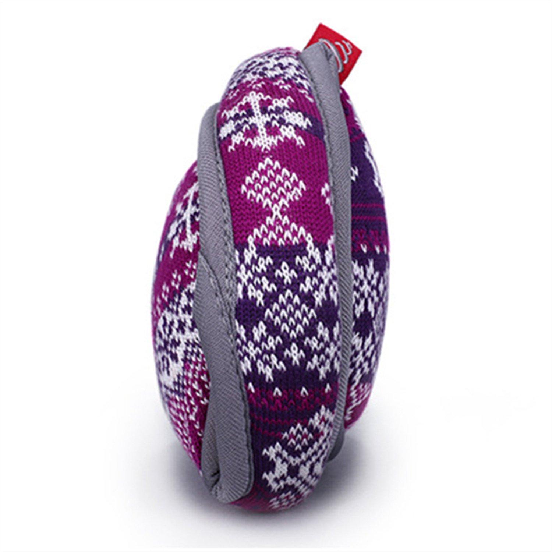 Outdoor Exposure and Thicken Earmuffs Ear Cover Unisex Foldable Ear Warmers Polar Fleece Winter EarMuffs Color Purple by YADEER (Image #3)