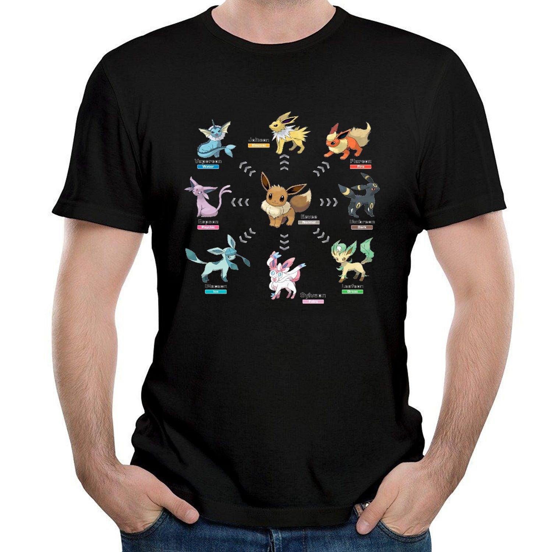 Ilonse S Eevee Evolutions T Shirts Black