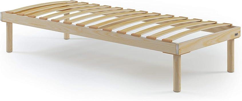 Mobili Fiver, Somier de una Plaza 80x190cm con Listones de Madera, Altura Total 26 cm, Contrachapado de Abedul, Made in Italy
