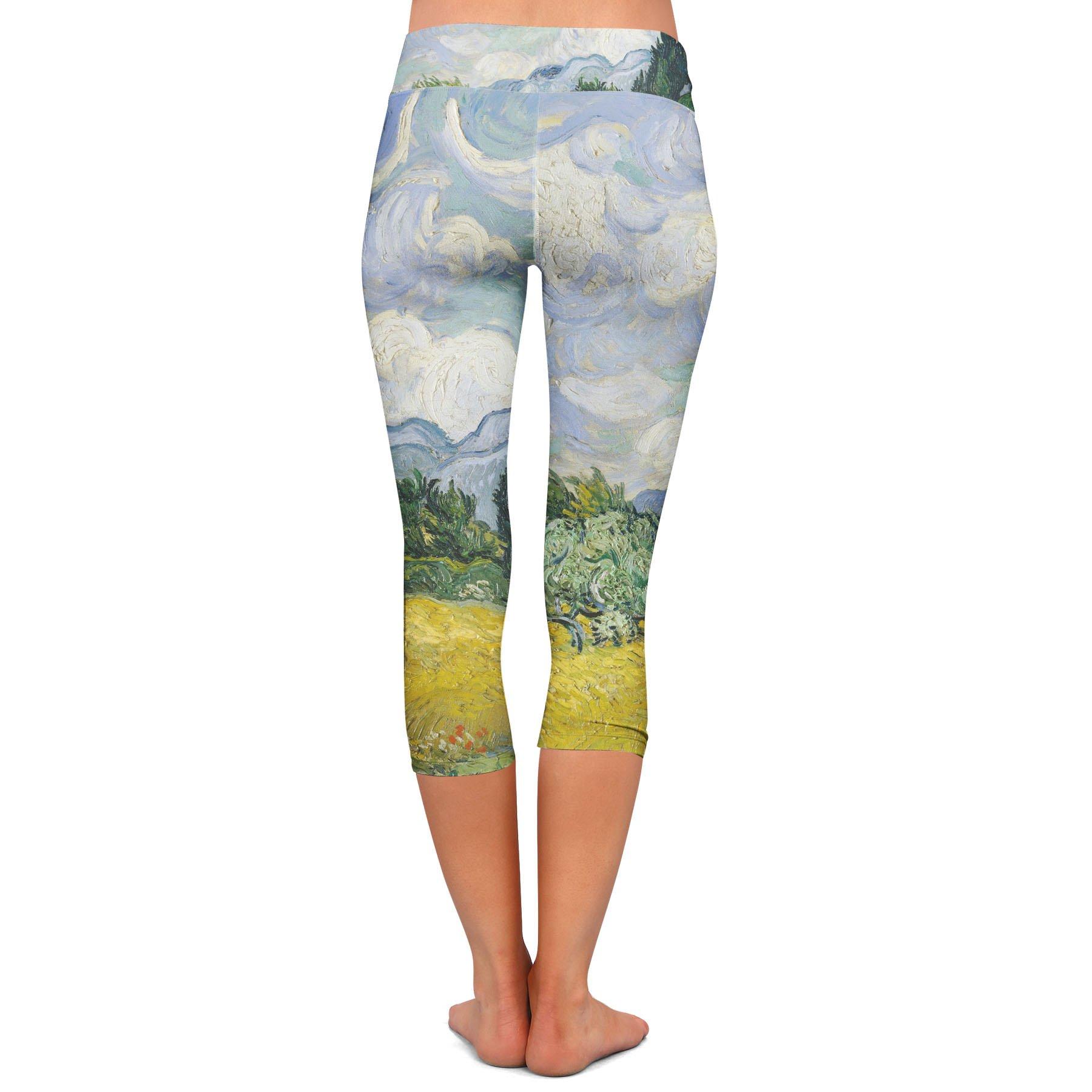 Vincent Van Gogh Fine Art Painting Yoga Leggings - Capri 3/4 Length, Low Waist by Queen of Cases (Image #3)